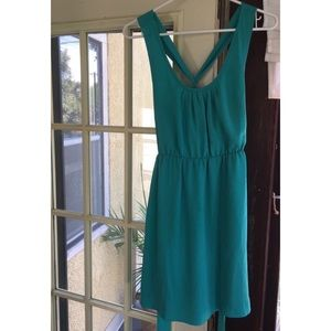 Banana republic petite teal dress